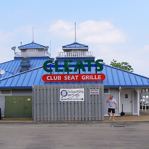 Cleats Club Seat Grille Ohio S Lake Erie Shores Amp Islands