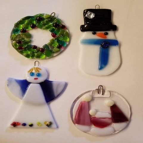 Fused Glass Holiday Ornament with Jill