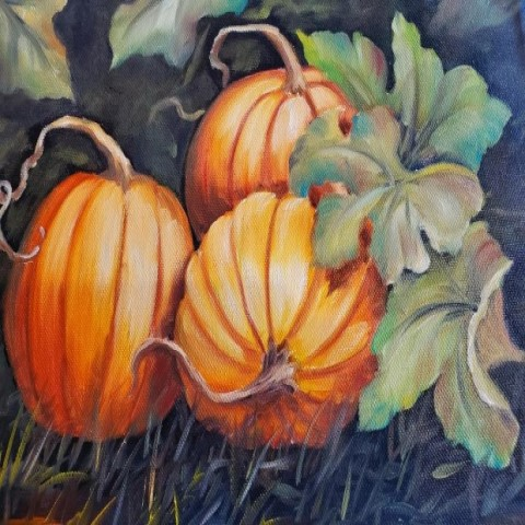 Painting with Carol- Field of Pumpkins
