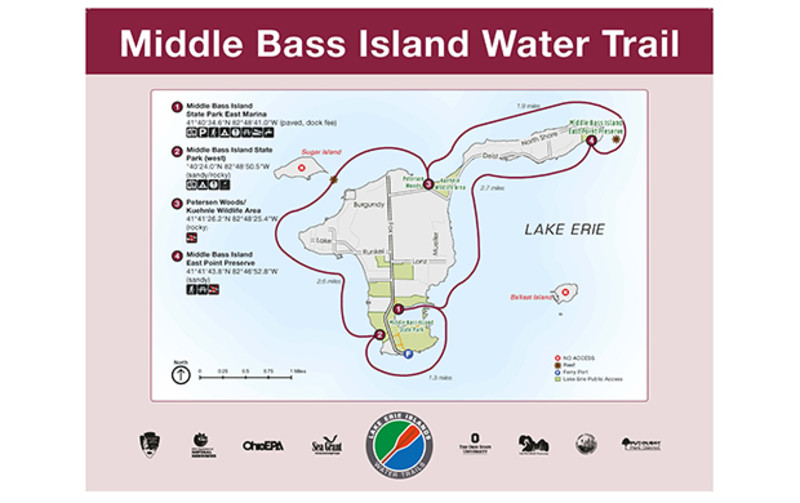 Lake Erie Islands Water Trail - Middle Bass Island Trail